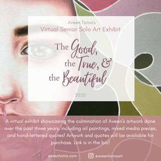 Virtual Art Exhibit Advertisement