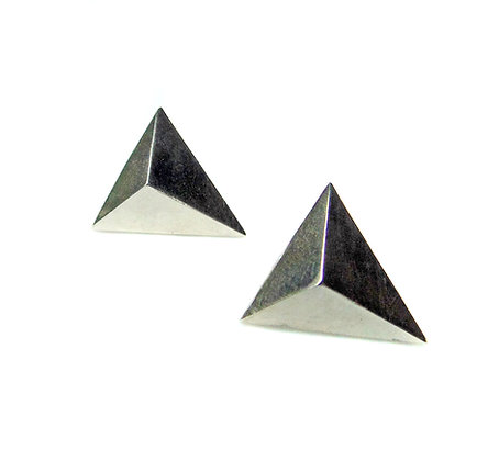 Triangle Pyramid Stud Earrings