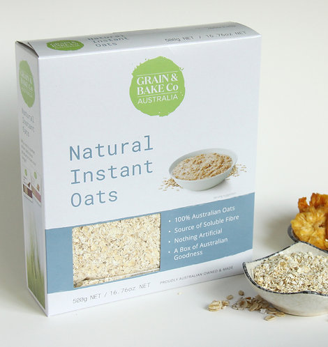Natural instant oats