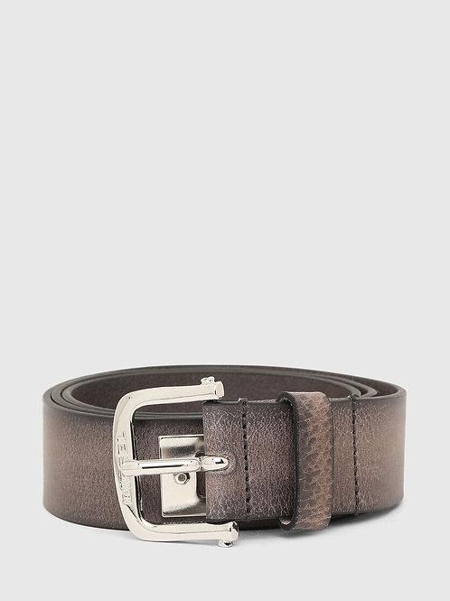 B-DIZEL Cintura in pelle con scritta in metallo