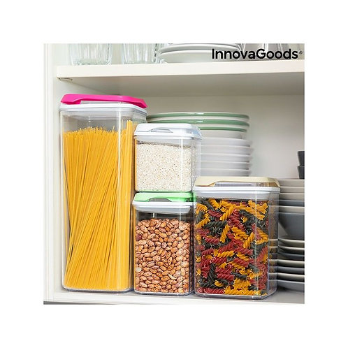 Set of Stackable Hermetically-sealed Kitchen Containers Pilocks InnovaGoods 4 Pi