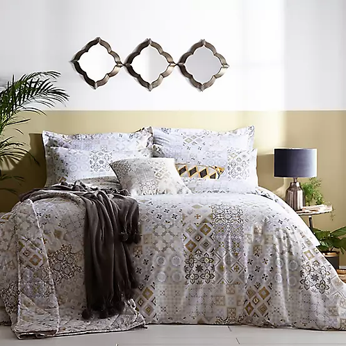 Your Gift Double Tile Geo Print Duvet Cover & Standard Pillowcase Set