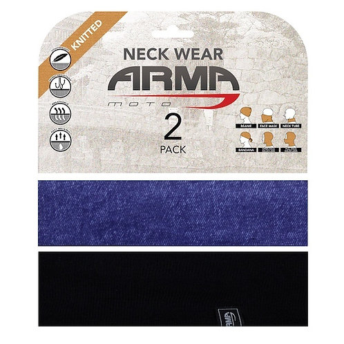 ARMR SUMMER FACE MASK NECK TUBE - 2 PACK BLACK + DENIM