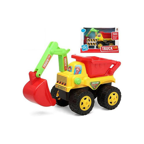 Tipping Truck and Excavator Yellow Red 119348