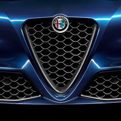 Griglia anteriore Alfa Romeo Giulia con inserto in fibra di carbonio (Giulia e versioni Super)
