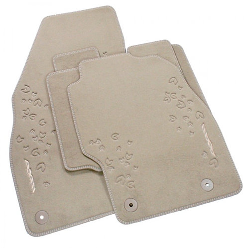 ADAM Fly Design Mats - Velour Carpet - Cocoa (Set of Four)