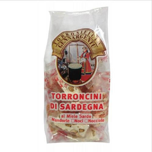 TORRONCINI DI MANDORLE, NOCI E NOCCIOLE 250 GR