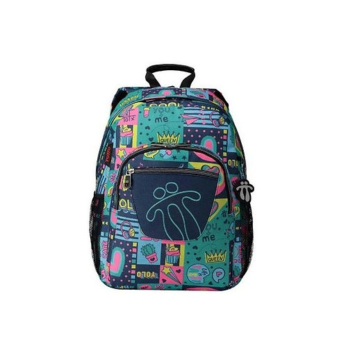 School Bag Queen Totto Acuareles Green (44 X 35 x 14 cm)