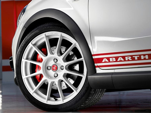 "Abarth Grande Punto 17"" White Esseesse Rim"