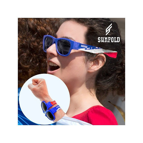 OUTLET Sunfold World Cup France Roll-Up Sunglasses (No packaging)
