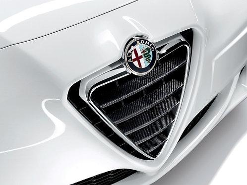 Alfa Romeo Giulietta Front Grille Horizontal Carbon Trims