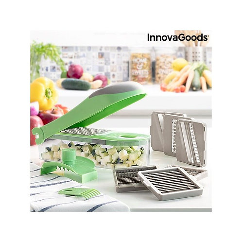 7 in 1 vegetable cutter, grater and mandolin with recipes and accessories Choppi