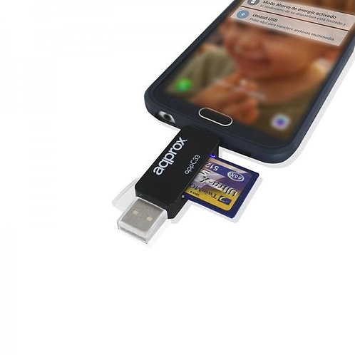 CARD READER APPROX! FLTLFL0083 APPC33 MICRO SD/SD/MMC MICRO USB 480 MBPS 32 GB B
