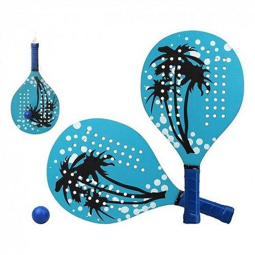 Beach Spades with Ball Palm Tree Blue