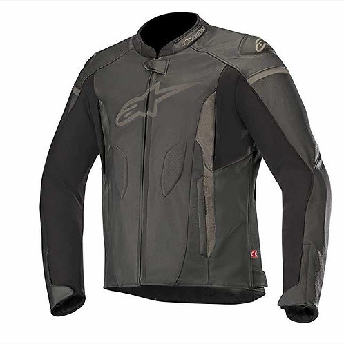 ALPINESTARS FASTER LEATHER JACKET - BLACK