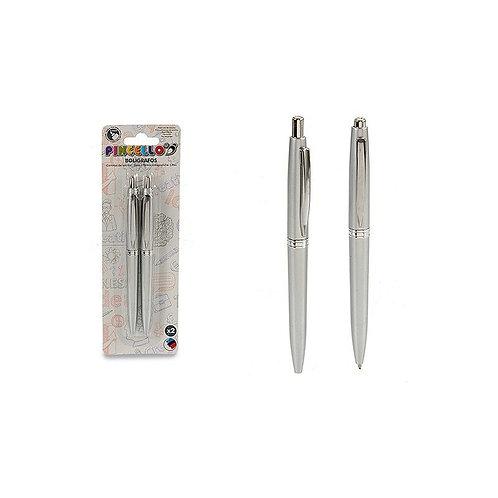 Pen Pincello Silver (2 Pieces) (1,5 x 20 x 6,5 cm)
