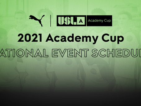 USL Academy Cup National Event Schedule Announced