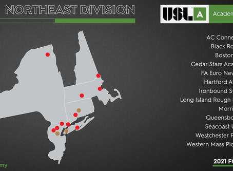 USL Academy League Confirms Founding Northeast Division Members