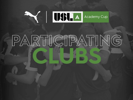 Clubs Announced for USL Academy Cup National Tournament