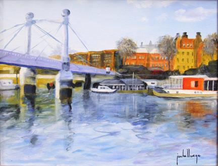 Boats At Albert Bridge, London