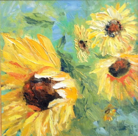 Three Sun Flowers