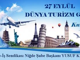 Başkan Karaca'dan 27 Eylül Dünya Turizm Günü Kutlama Mesajı