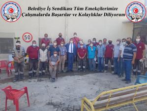 Nevşehir Ortahisar Belediyesinde çalışan  emekçi arkadaşları ziyaret ettik.