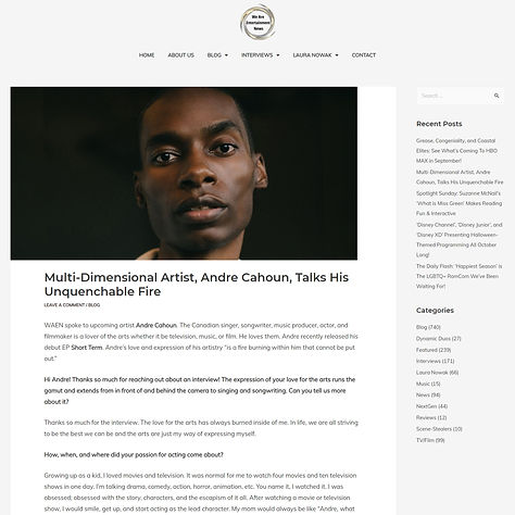 ANDRE CAHOUN - WE ARE ENTERTAINMENT NEWS