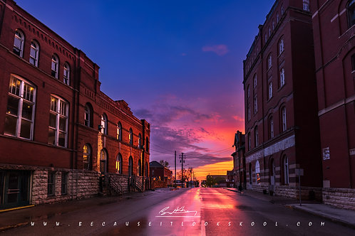 11x14 Matted Print- Dick Brewery at sunset