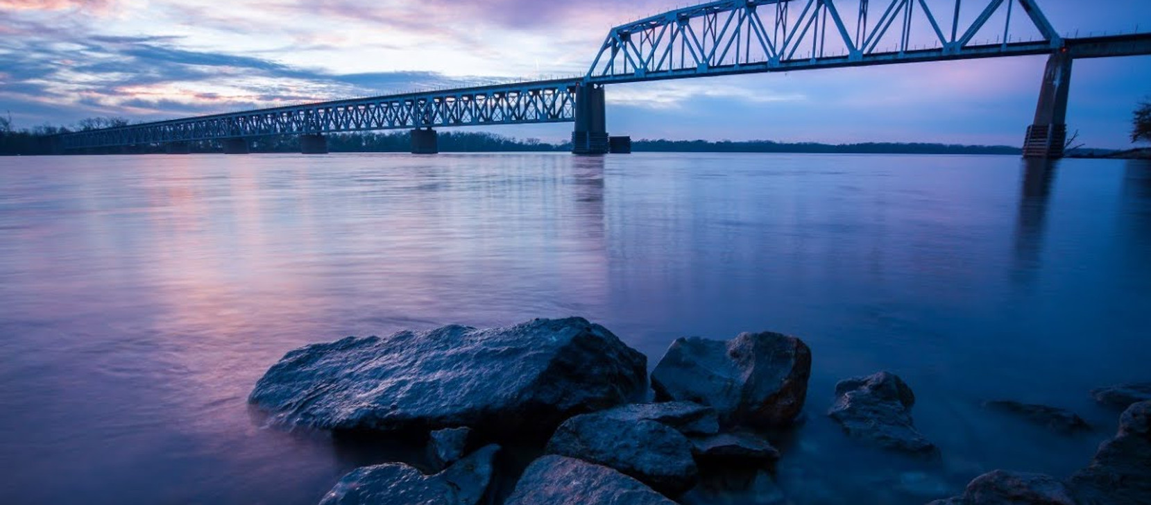 1-2-18 Quinsippi Island Train Bridge Photo Matting