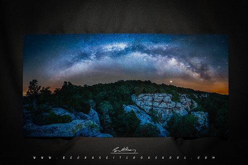Garden of the Gods Milky Way 12x24 Print on Metal
