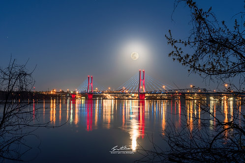 11x14 Matted Print- Bayview Bridge Supermoon