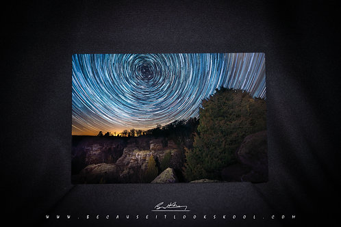 Garden of the Gods Time Lapse 8x12 Print on Metal