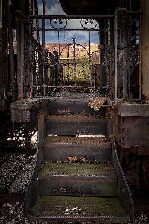 11x14 Matted Print- Train Steps