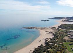 Panoramica delle spiagge a Chia