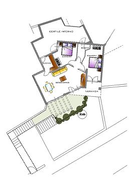 Piantina Casa R4B
