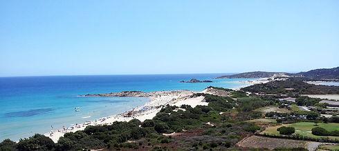 Panorama della spiaggia di Chia