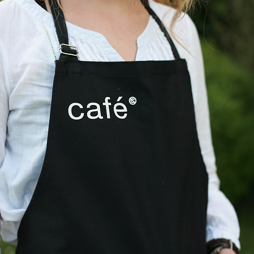 Tablier officiel signé café