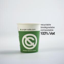 gobelet café compostable 6oz