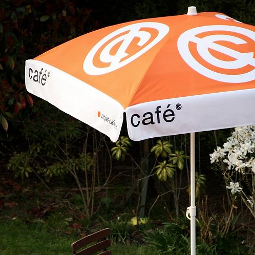 Parasol officiel signé café