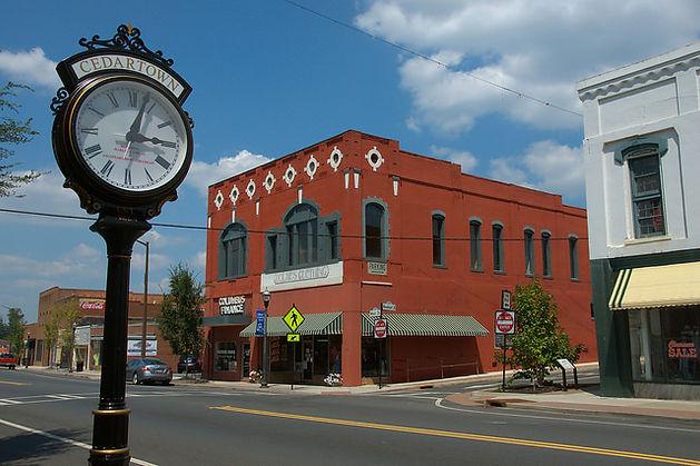 cedartown-ga-clock-old-stores-photograph