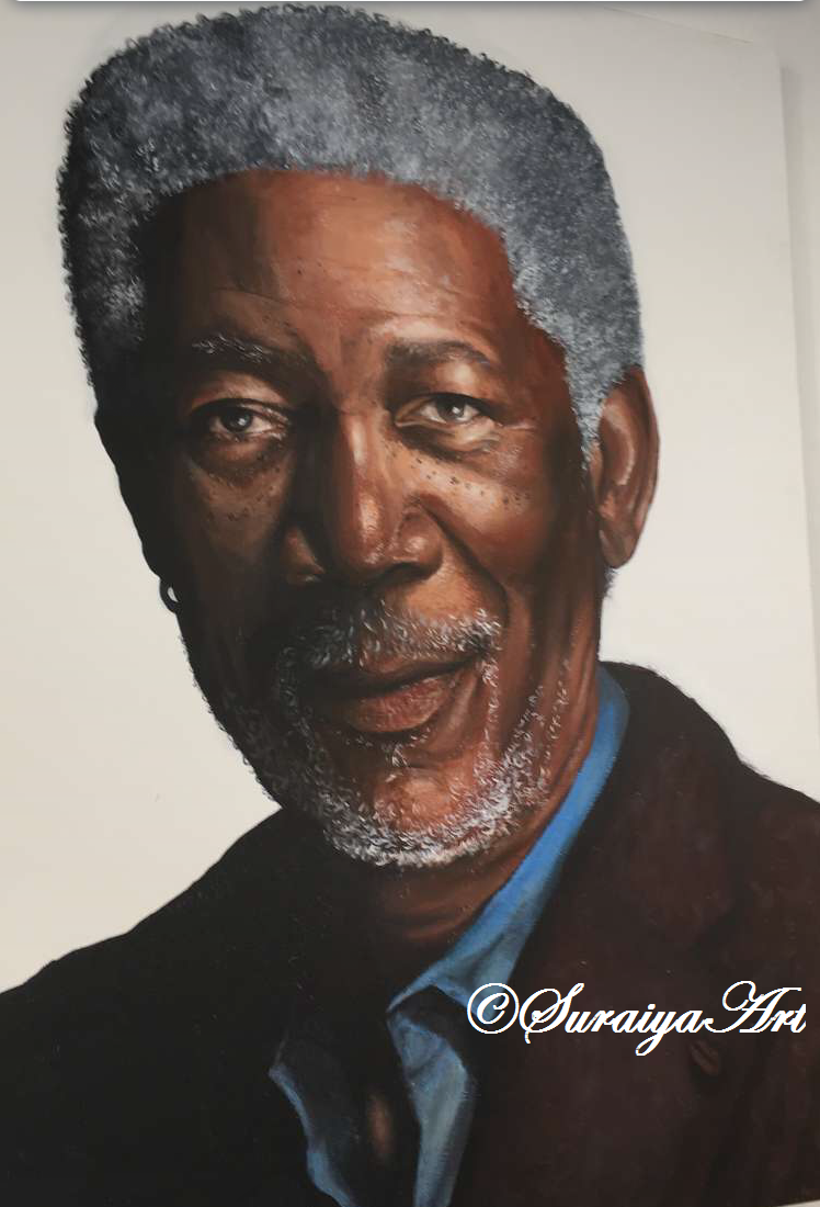 Morgan Freeman - Acrylic Paints