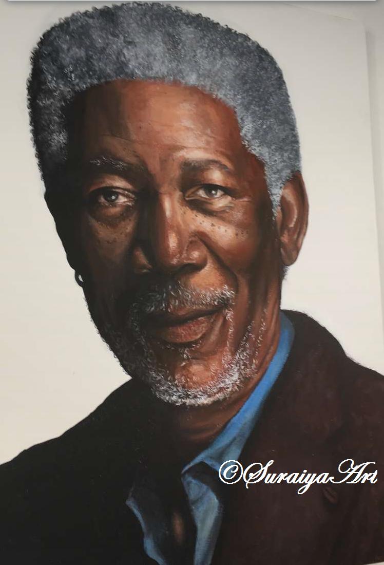 Morgan Freeman - Acrylic Paints