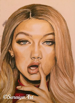 Gigi Hadid - Prismacolour Pencils