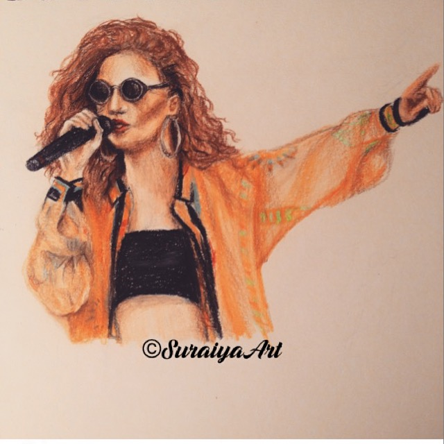Jess Glynne - Prismacolour Pencils