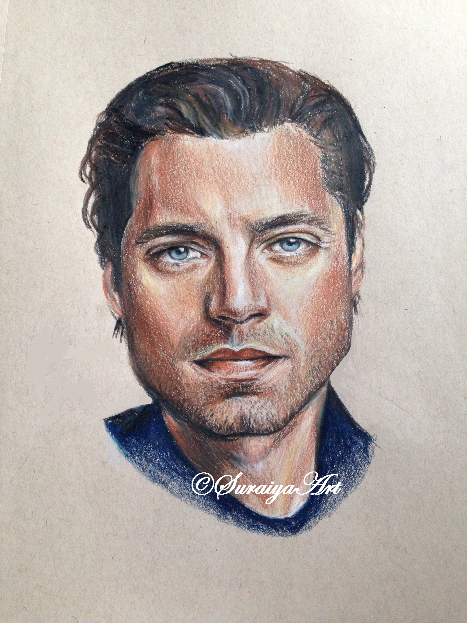 Sebastian Stan - Prismacolour Pencil