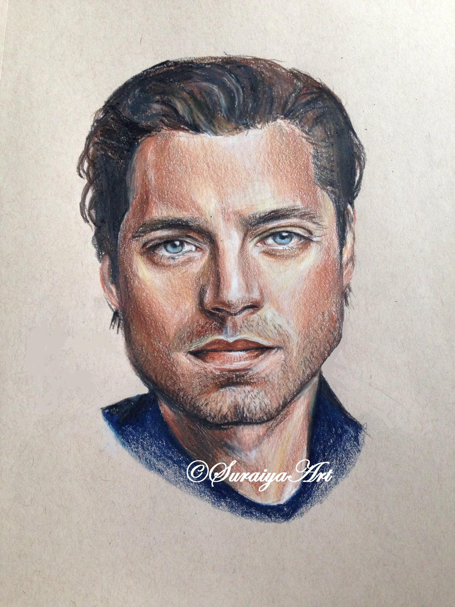 Sebastian Stan - Prismacolour Pencil