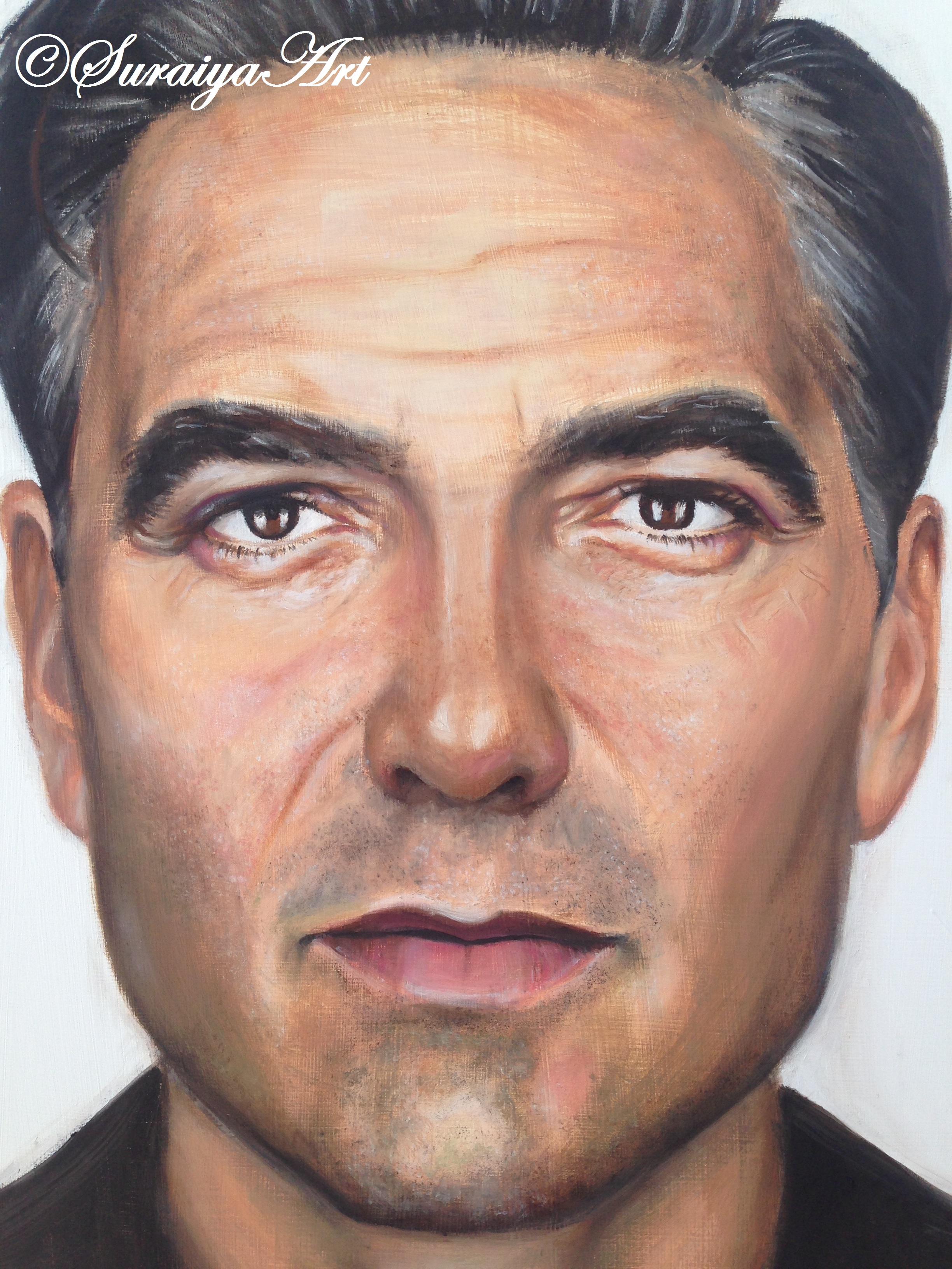 George Clooney - Oil Paints