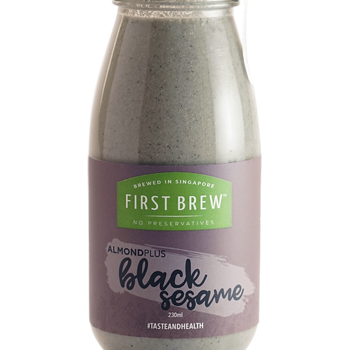 First Brew Almondplus Meal-In-A-Bottle Black Sesame - 6 Bottles