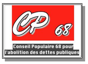 Conseil Populaire 68 pour l'Abolition de la dette publique maison de la cotoyenneté mondiale mulhouse roger winterhalter